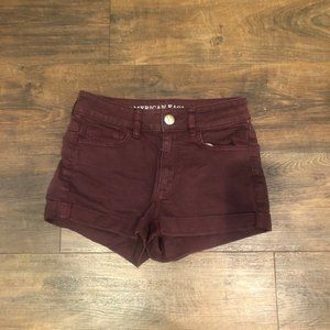 American Eagle Burgundy Super Stretch Jean…